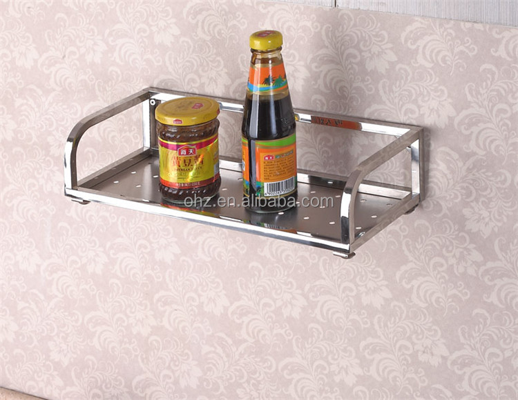 2015 New design rectangle single layer kitchen storage rack