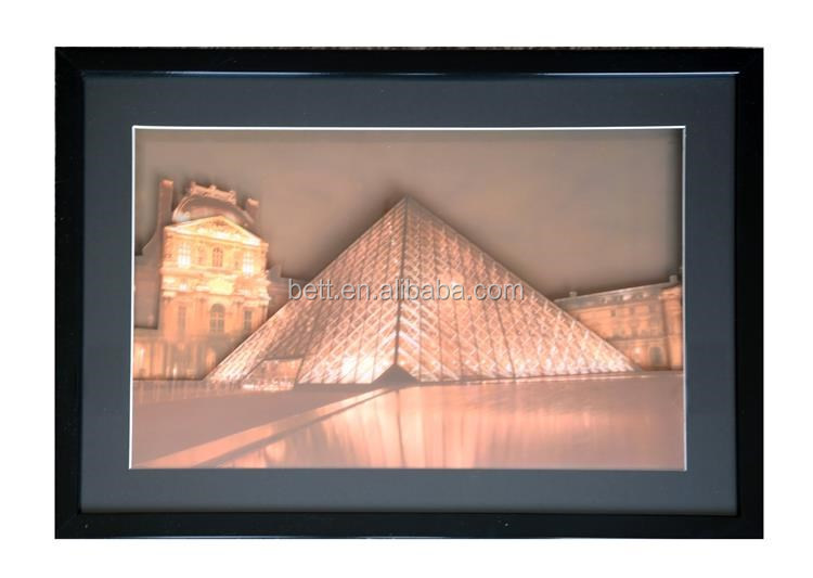LED indoor and outdoor decoration wood picture frame with the battery operated