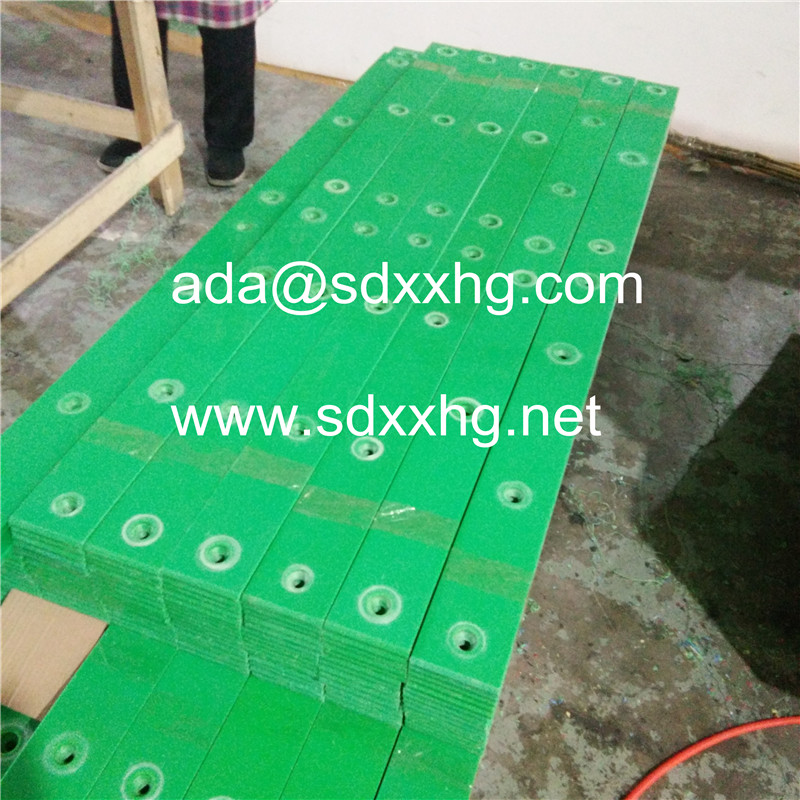 okulen HDPE green wear strip plastic rail strips flat plastic strips