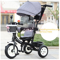 New model hot selling good quality kid's Lexus metal tricycle Deluxe Trike baby plastic children smart tricycle