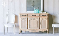 Antique solid wood side cabinet/French reproduction wood furniture