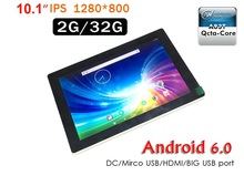 "10.1"" Allwinner A83T RAM 2GB 32GB 1280*800 Android 6.0 OS Octa Core Tablet PC with Two USB Port Bluetooth DC"