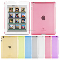Popular Colorful Clear Soft Protective Back Case Cover for iPad 2/3/4