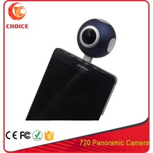 1080P Micro USB 2.0/Type-C Connection Method 720 Degree Dual Lens Round Panoramic MP4 Video Format Action Camera