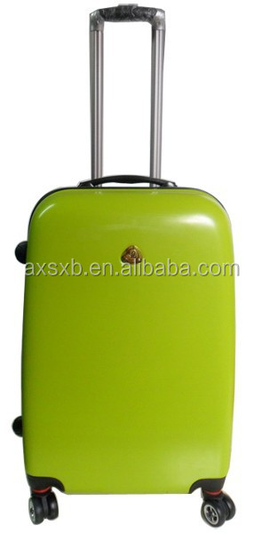 ABS+PC urban trolley vintage trolley luggage polo trolley luggage pc/abs transparent