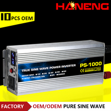 Haneng factory supply 12V24V48V60V to 220V 1000W DC AC pure sine wave power inverter