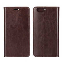 For oppo r11 plus Wallet Case, Genuine Leather Flip Case Cover Magnetic Stand Function with Card Slots/Cash Compartmen