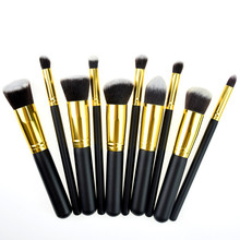 Kabuki Makeup Brush Premium Synthetic 10pcs Good Makeup Brushes