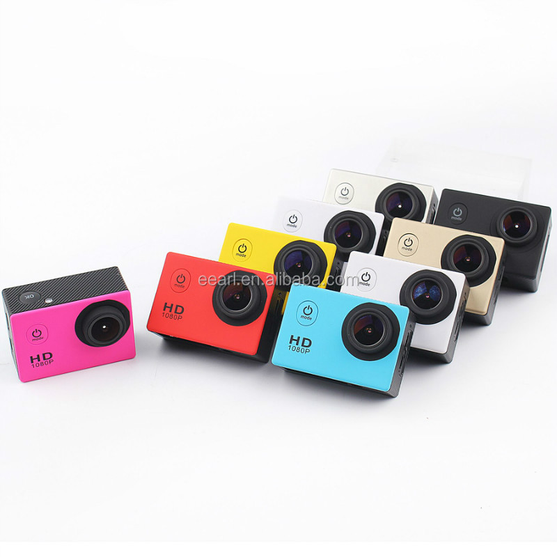 2016 hot sales sports DV recorder Action Camera Full HD 1080P 2.0 inch Car DVR H.264 5M Underwater 70M Video Camera