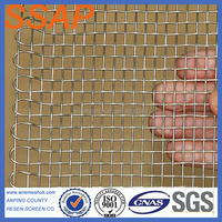 Stainless Steel Weaving Crimped Metal Square Wire Mesh For Barbecue / BBQ