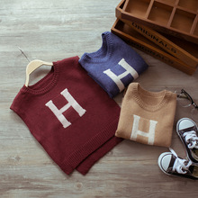 ZH00289B New arrival stylish hand knitted fancy sleeveless kids sweater