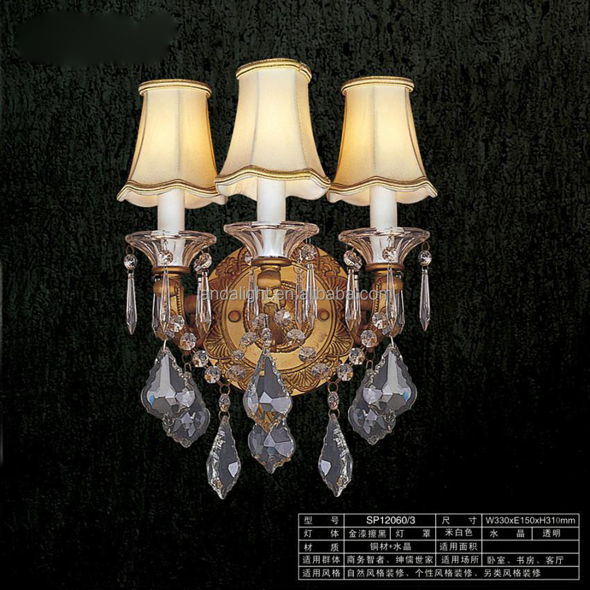 modern Egyptian crystals wall light lamps CE approval sconce lights