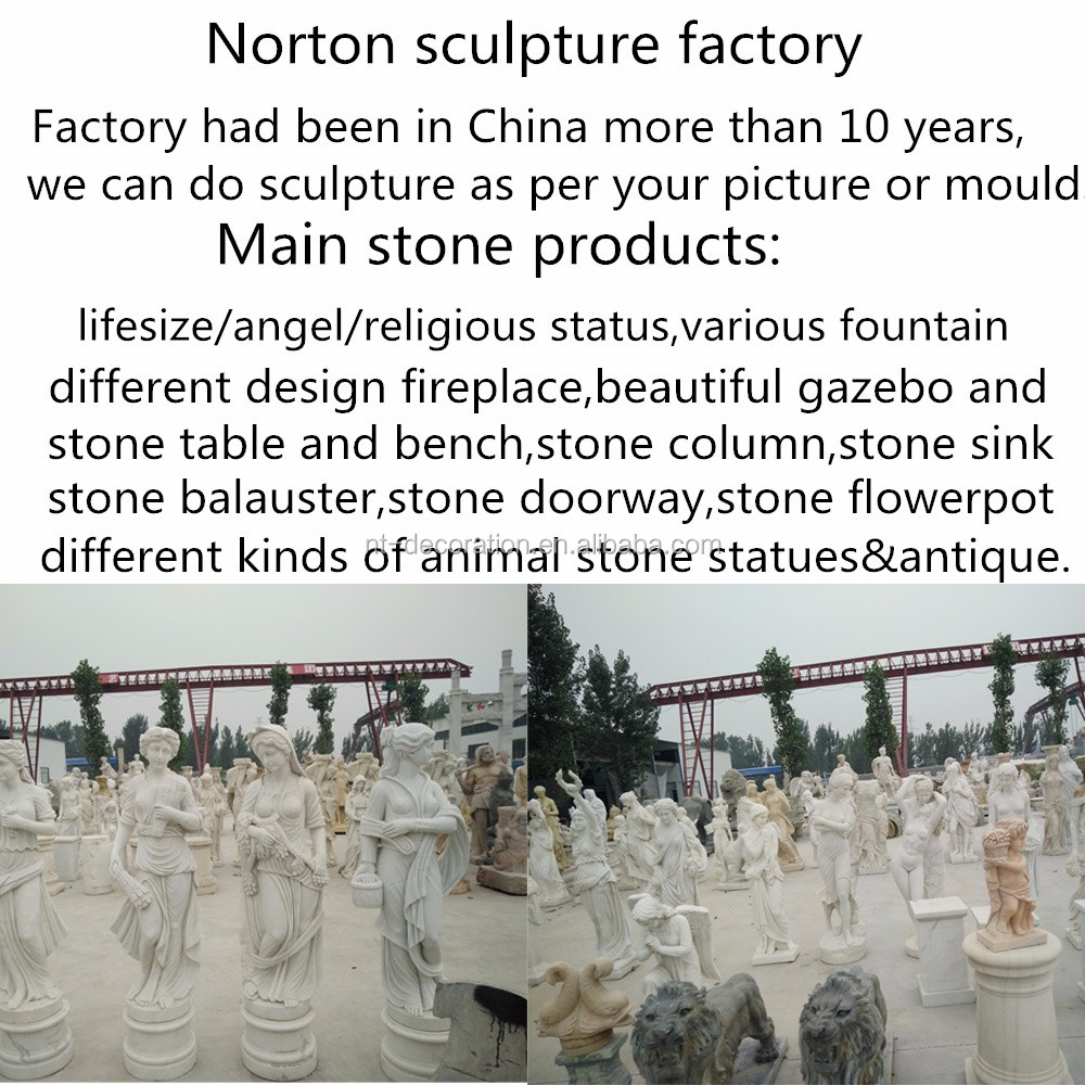 Outdoor decor water marble lion fountain for sale NTBM-288A