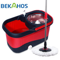 Stainless steel basket with plastic bucket 2015 easy mop swifter mop