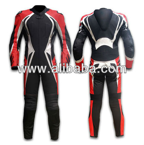 custom leather motorcycle racing suit