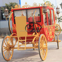 4 wheels Royal Horse Carriage Horse Cart for sale