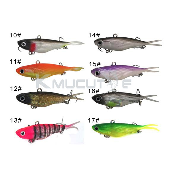 95mm 20g/115mm 35g soft vibe lure lead fish lures Chentilly03 CS002 Soft VIBE Lure Made of TPR CS002-1