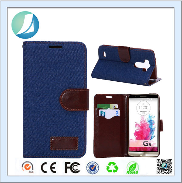 Hot Sale Pouch Card Slots Leather case For LG G3 mobile accessories