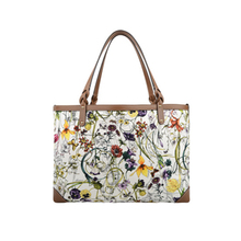 Flower Print Canvas Craft Tote Bags