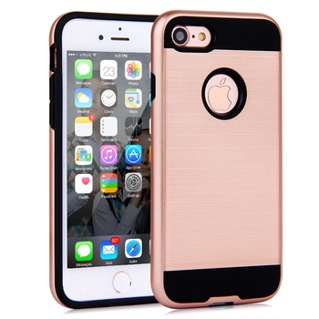 2016 new arrived Dual Layer PC TPU brushed phone case for iPhone 7 case