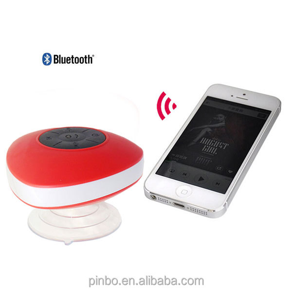 mini wireless bluetooth waterproof speaker with suction cup
