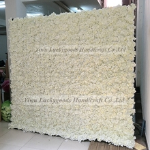 luckygoods hydrangea silk flower wall weddings decoration wall artificial paper flower backdrop stands