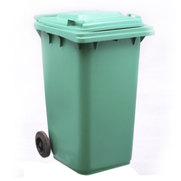 Professional 240 Liter Cheap Hotel Home Room Color Code Household Plastic Garbage Container Recycle Bin With Wheels and cover