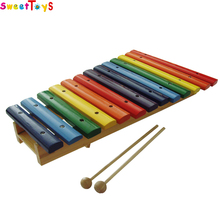 wood xylophone for children,Funny child wooden hand knocks xylophone .