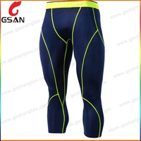 Strong mens running capri pants compression pants