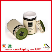 Biodegradable paper tube for herbal tea packaging box Chinese tea packaging gift box in cheap price