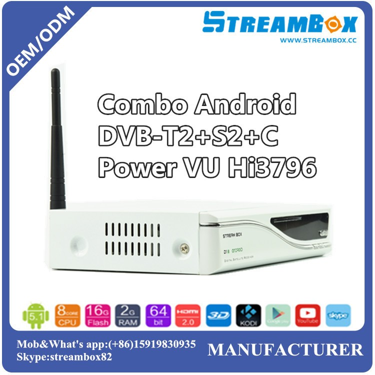 A6 Factory price Iptv Youtube Radio Android 4.4 Built-in 2.4G WiFi Satellite tv receiver