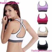 9 Colors Top Padded Stretch Gym Sport Bra Women Yoga