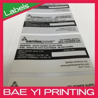 UL label certified GPS adhesive sticker hot tamperature resist