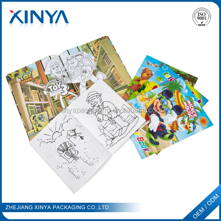 XINYA Wholesale Custom Printing Cheap Children Filling Coloring Drawing Book For Kids