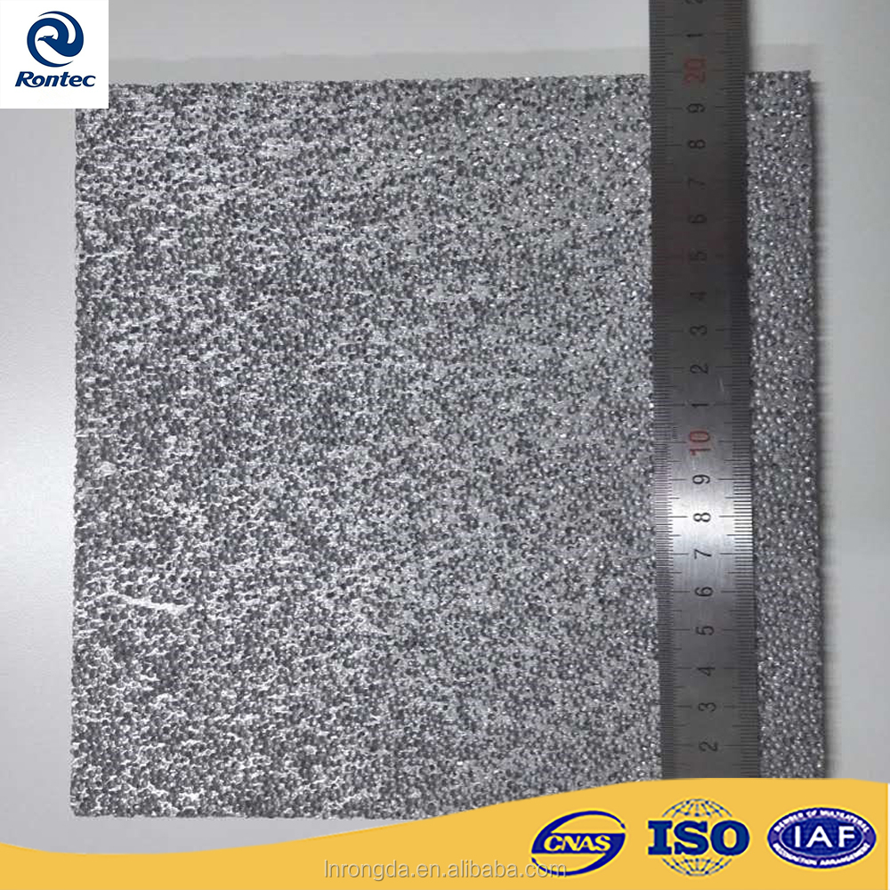Fireproof and ceiling material closed-cell aluminum foam panels