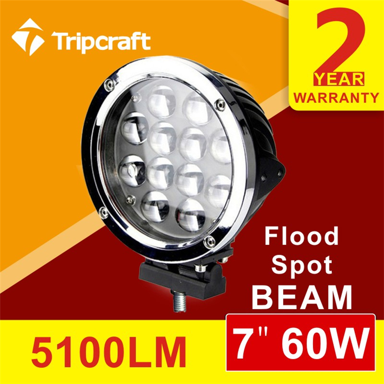 "<strong>Auto</strong> round 7"" led headlight 4x4 60w led driving light 4D 60w work lamp"