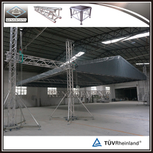 Outdoor oem aluminum concert stage roof truss with sound wings