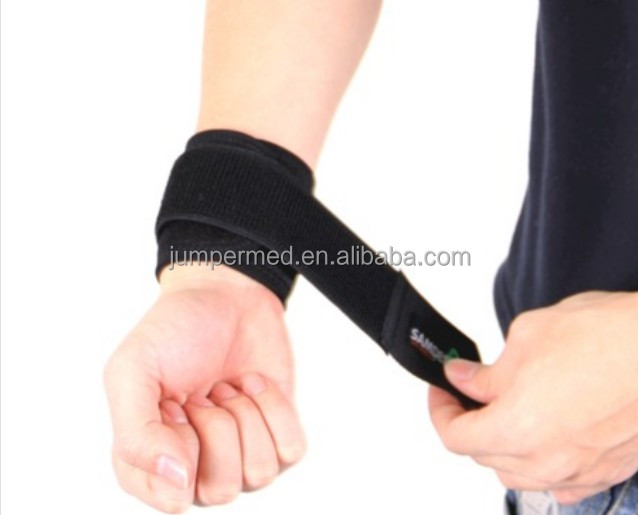 Neoprene adjustable wrist guard with private label for sports accessories market