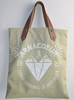 Custom design organic plain cotton canvas bag with leather handle