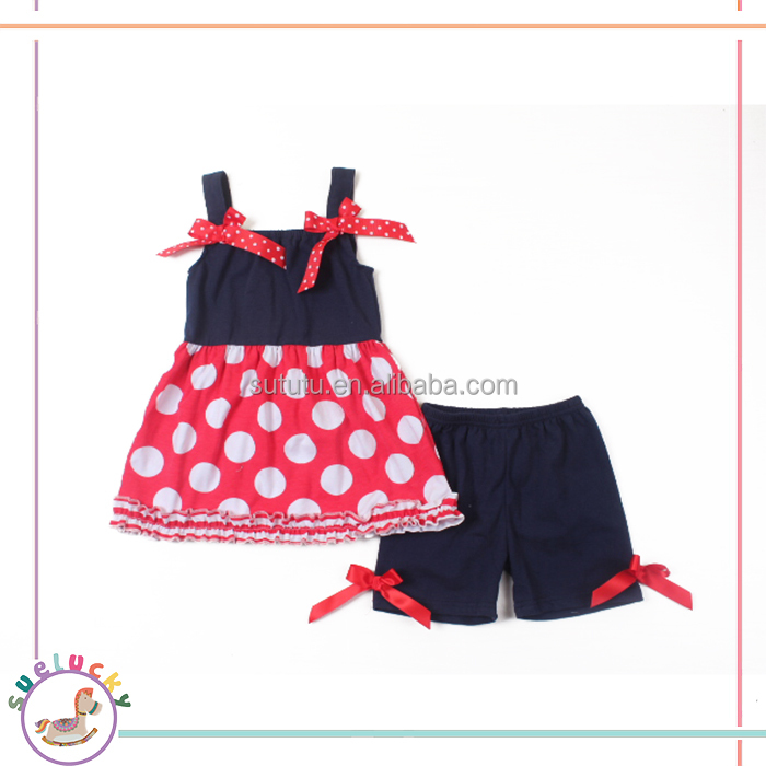 kids modeling branded korean design fashion red polka dots long top baby clothes girl