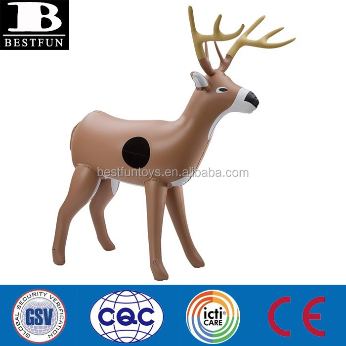 pvc inflatable 3d deer target deer decoy inflatable animal toys for kids