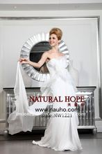 Crazy Hot 2012 new listed gorgeous and amazing chiffon straight bridal wedding dress NW1221