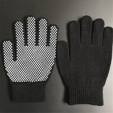 OPTIMA wholesale pvc dots one side cotton knit glove