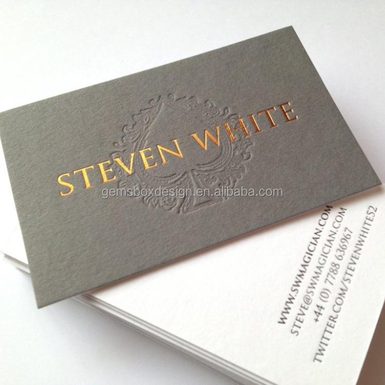 Wholesale debossed business card online buy best debossed business dark grey letterpress strongdebossstrong reheart Image collections