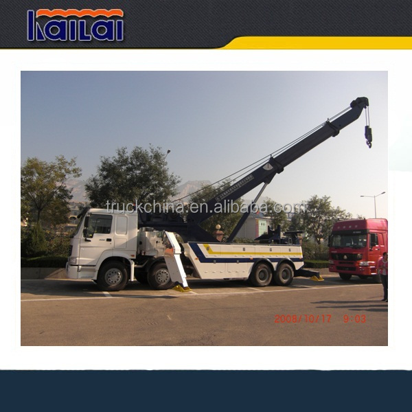 SINOTRUK HOWO 8x4 50 t0ns wrecker truck rotator tow truck for sale