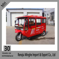 China Supplier FangZhou Gasoline Red passenger tricycle/three wheel bike