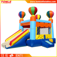 commercial inflatable Hot Air Balloon Bounce slide combo for sale