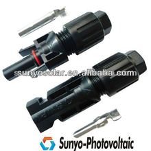 2013 newest product,female&male pair,2.5/4/6mm2 cable/wire,factory price,PV panel mount connector