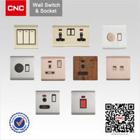 British Type V&Q Metal Brushed electric wall switch socket