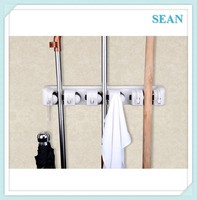 Mop and Broom Hanger Holder 5 position Wall Mounted Garden Tool Magic Holder